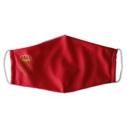 Mascarilla de Navarra roja reutilizable con filtro